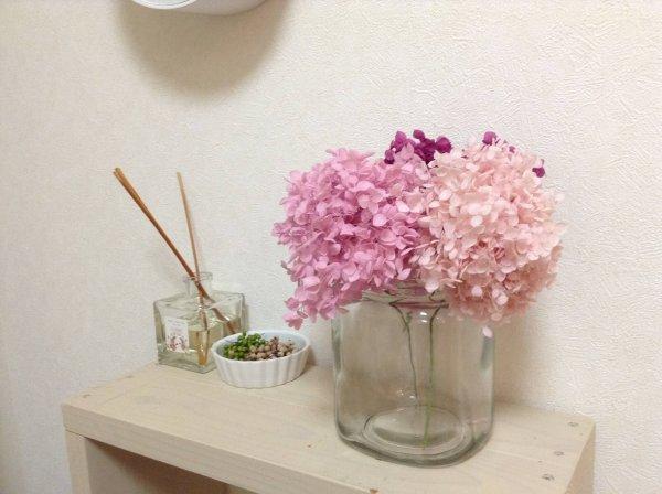 プリザーブドフラワー 花瓶