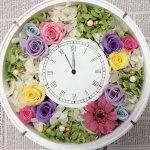 オリジナルで豪華なお祝いに!プリザーブドフラワー手作り花時計