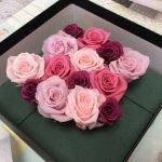 花のグラデーションで楽しみが広がる!プリザーブドフラワーのアレンジメント