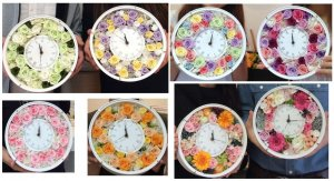 生徒さんの花時計