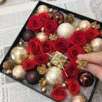 箱の中はクリスマス!プリザーブドフラワーで作る手作りプレゼントとしてフラワーボックスは優れ物!