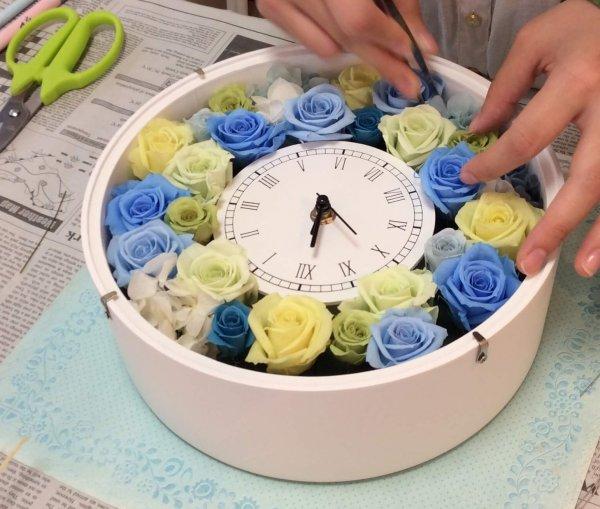 【ブルー x グリーン】落ち着いた綺麗な組み合わせの手作りプリザーブドフラワーに!
