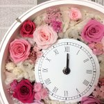 より簡単でおしゃれに!プリザーブドフラワーの花時計がリニューアル!