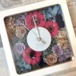 アンティーク調の花時計が可愛い!結婚式でのご両親への贈り物に手作りされました