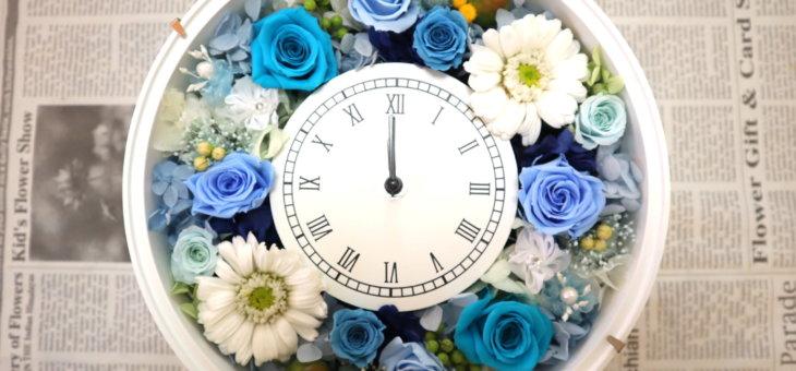お母さんの誕生日のプレゼントにブルーの豪華な時計を作られました!