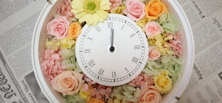 手作りの趣味で!可愛らしい花時計を作られました
