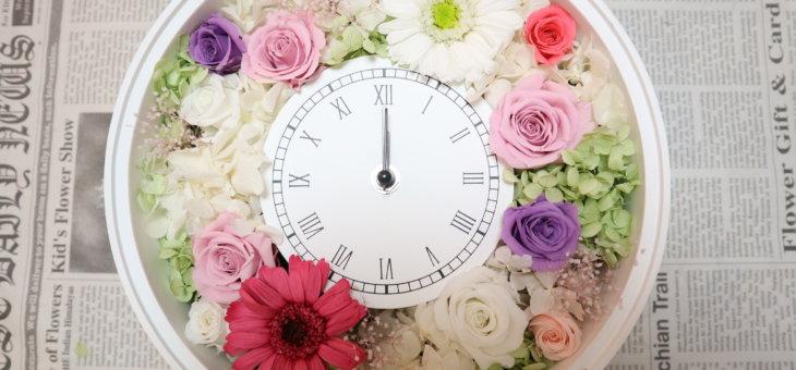結婚式の両親への記念品に時計を手作り!お二つのキュートな作品になりました!