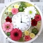 ミラコスタ ウェディングで!両親へのプレゼントにお二つの花時計を作られました