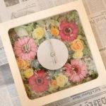 春婚にぴったり!結婚式のご両親贈呈品に可愛い時計を作られました