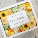 還暦祝いに母へお花を!プリザーブドフラワーの写真立てを手作りされました