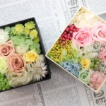 プリザーブドフラワーの体験レッスンを東京で!かわいいボックスを作られました