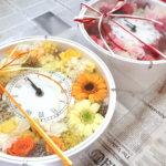 南青山の挙式で!結婚式のご両親へのプレゼントにキュートなカラーで時計を作られました