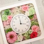 毎日見れる!結婚式のご両親贈呈品に時計をカワいく作られました