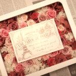 個性光る!結婚式のご両親へのプレゼントに2つのオリジナルの写真立てを作られました!